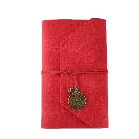 Amazon.com: Queenmore - Cuaderno de piel sintética con ...