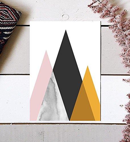 Mid Century Art Print, Midcentury Modern Art, Mid Century Print, Mid Century Modern, Modern Mountain, Unframed Print, Geometric Print, Modern Wall Art, Mountain Art Print, Mountain Poster, 8x10 by MotivatedWallArt
