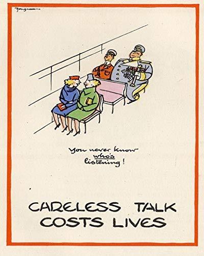 Careless Talk Costs Lives - Careless Talk Costs Lives World War Sign 12x16 inches Metal Signs Vintage Retro Tin Sign for Kitchen Kids Room Man Cave Garage Pub Decor