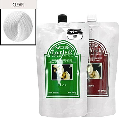 Gain LOMBOK Original LB Henna Hair Treatment Color Cream 6 Colors Pick one! (#05 Clear) by LOMBOK