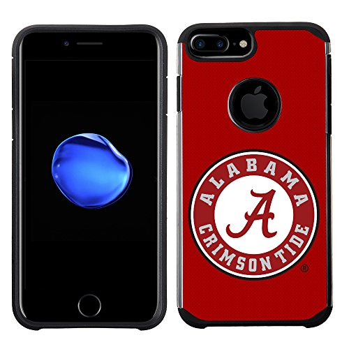 (Prime Brands Group Textured Team Color Cell Phone Case for Apple iPhone 8 Plus/7 Plus/6S Plus/6 Plus - NCAA Licensed University of Alabama Crimson Tide)