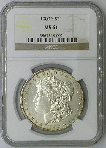 1900 S Morgan $1 MS61 NGC Silver Dollar Old US Coin 90% Silver