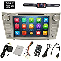 HIZPO Camry Aurion Car DVD Player 2006 2007 2008 2009 2010 2011 GPS Navigation with Free map card DVD/CD USB SD BT iPod GPS AM/FM/RDS Radio + Camera