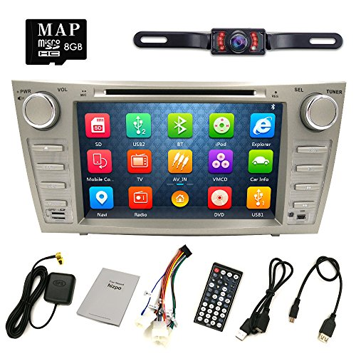 hizpo rear camera included for toyota camry 2007 2008 2009 2010 2011 8 inch indash car dvd. Black Bedroom Furniture Sets. Home Design Ideas