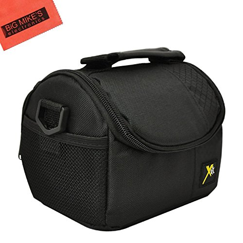 Deluxe Soft Small Camcorder Case for Nikon DL18-50, DL24-500, DL24-85, B500, B700, 1 AW1, 1 J1, 1 J2, 1 J3, 1 J5, 1 S1, Coolpix L28, L820, L830, L840, P600, P610, P900 Digital Camera