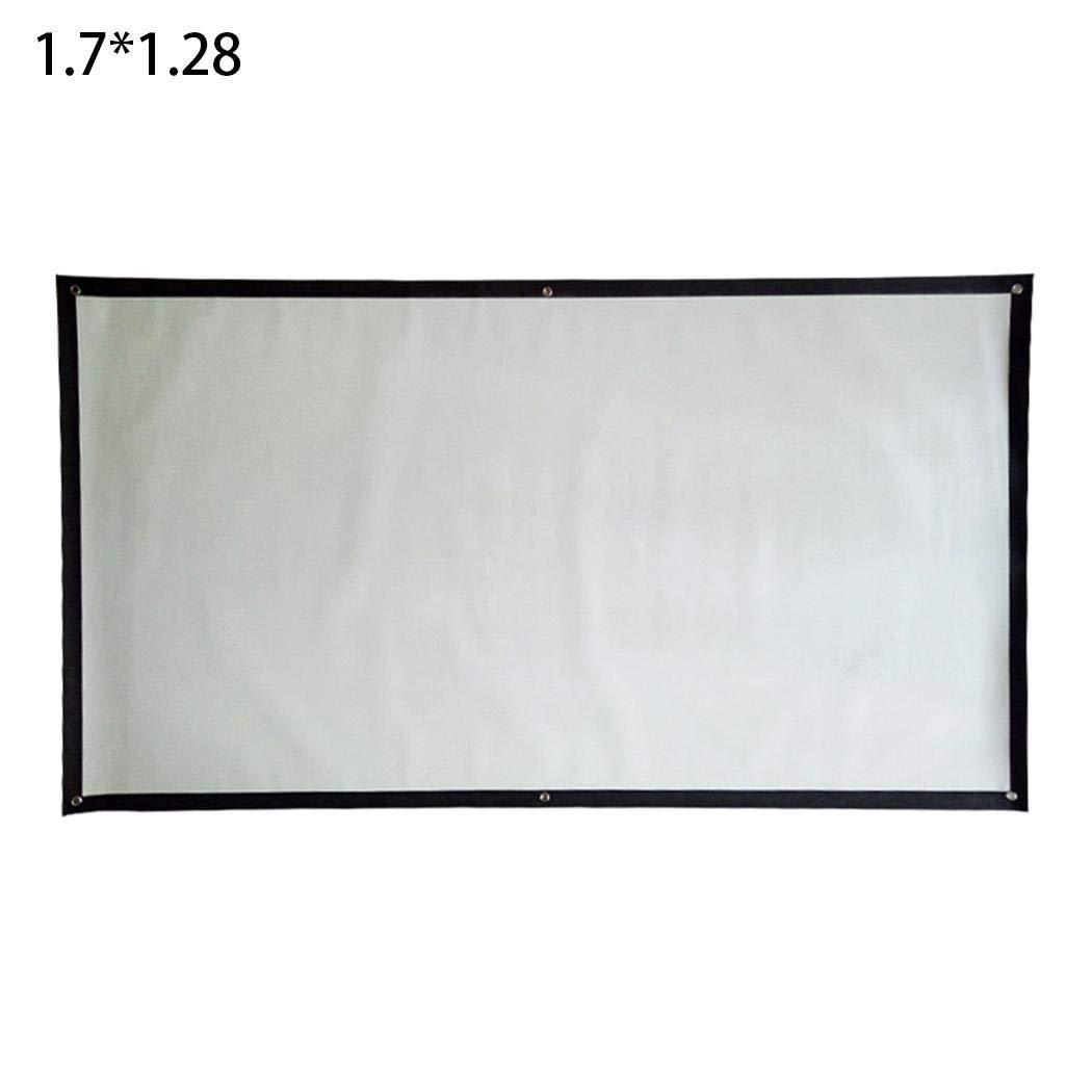 3 HD Pantalla de Cine Plegable port/átil Pantalla de proyecci/ón Resistente a la luz del hogar Pantallas para proyectores YENJOS 72 Pulgadas 4