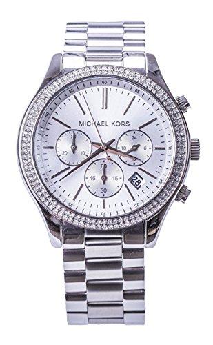 Michael Kors 'Slim Runway' Crystal Bezel Chronograph Bracelet Watch, - Crystal Bezel Chronograph Watch