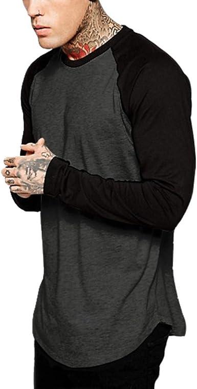 Oliviavan Camiseta para Hombre, Camisetas De Hombre De Verano Manga Corta Moda Casual Color sólido Cuello Redondo Print tee Camisas Urbanas Hombre Joven Hombre Camisetas Casual: Amazon.es: Ropa y accesorios