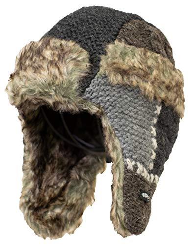 Everest Designs Unisex Patch Work Fur Hat, Natural, One Size