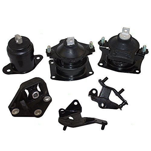 New Engine Motor Mount Acura (6 Piece Set of Engine & Transmission Motor Mounts Replacement for Honda Accord 2.4L Automatic Transmission 50870SDAA02)