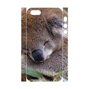 3D Bumper Plastic Customized Case Of Koala for iPhone 5,5S wangjiang maoyi by lolosakes