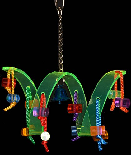 Acrylic Activity Play Tunnel Small Bird Toy with Jingle Bell by Avianweb by Avianweb (Image #2)