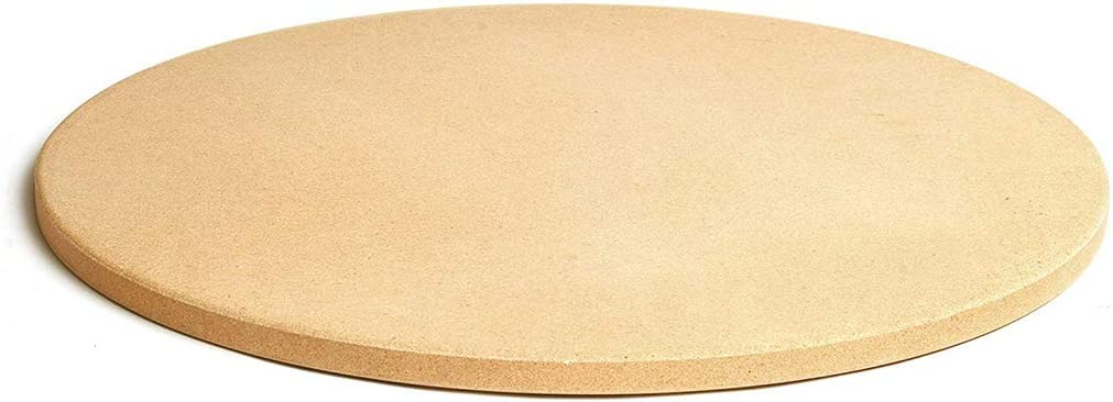 MYJZY Round Grill Pizza Stone Baking Stone10/11/12/13 Inches,Cordierite Grilling Stone,High Temperature Resistance,Ideal for Ovens, Grills,BBQ,Pies, Pastry Bread,11inches