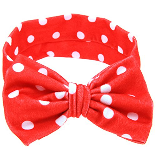 ZOONAI Baby Girls Toddler Bowknot Headband Infant Rabbit Ear Hair Band Headdress