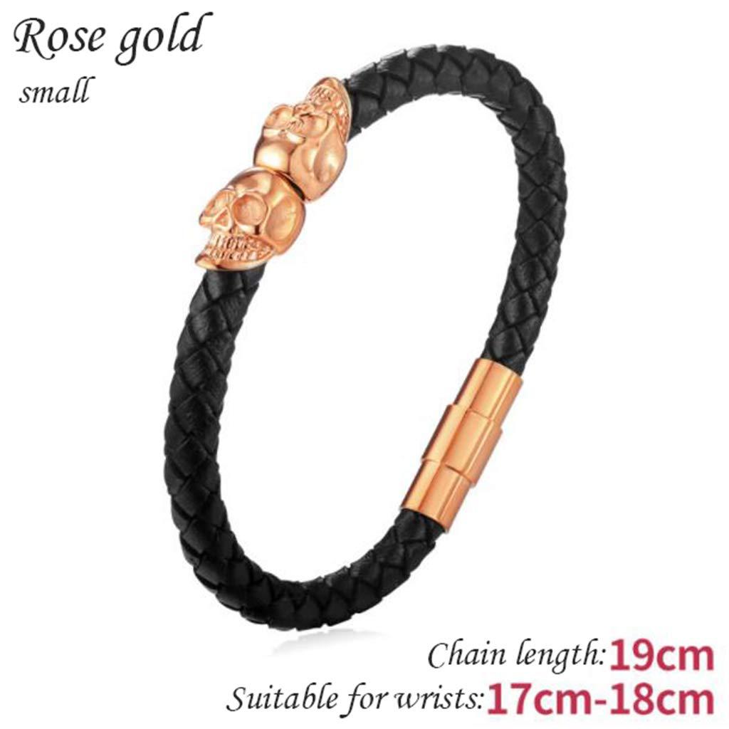 Cassiel Y Pulsera De Acero Titanium De Oro Rosa - (Modelos Masculinos Y Femeninos Pequeños)