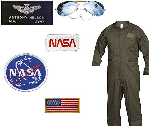 Jeannie Costumes For Kids (USAF-NASA Astronaut Costume - Major Nelson (2XL, Olive Drab))