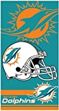 The Northwest Company Miami Dolphins Double Cover NFL Licensed 28x58 Cotton Velour Beach Towel