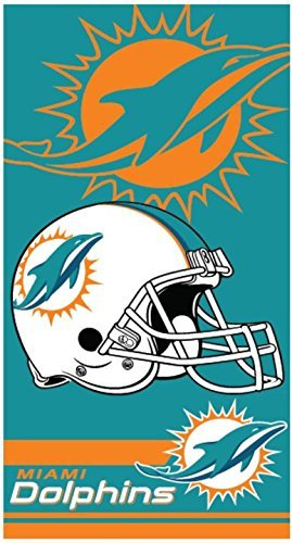 - The Northwest Company Miami Dolphins Double Cover NFL Licensed 28x58 Cotton Velour Beach Towel