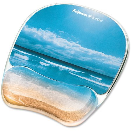 Fellowes Photo Gel Mouse Pad Wrist Rest with Microban, Multicolor