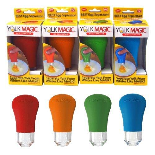 YOLK MAGIC Egg Separator | As Seen on TV (Assorted Colors)
