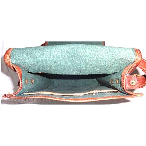 Wütend über Einkaufen Echtes Leder Voller Klappe Tasche Vintage Schulter Crossbody Satchel Sling Bag