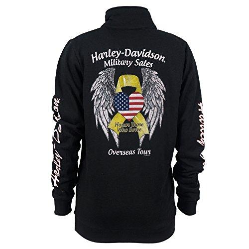 Harley-Davidson Clothing - Womens Track Jacket   Military Heart Custom, XX-Large, Black
