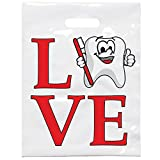 Practicon 11096160 Love Tootie Bag, 7 3/4'' x 9'' (Pack of 100)