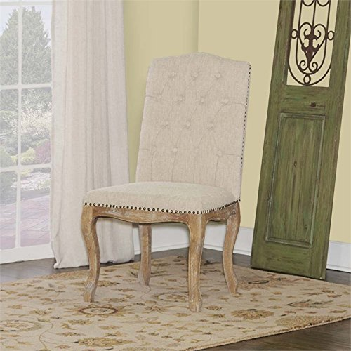 Image of Portsmouth Dining Chair in Light Natural Brown Finish - Set of 2