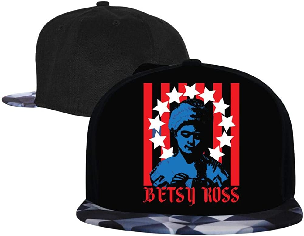 Adjustable Hip Hop Flat-Mouthed Baseball Caps Betsy Ross Mens and Womens Trucker Hats