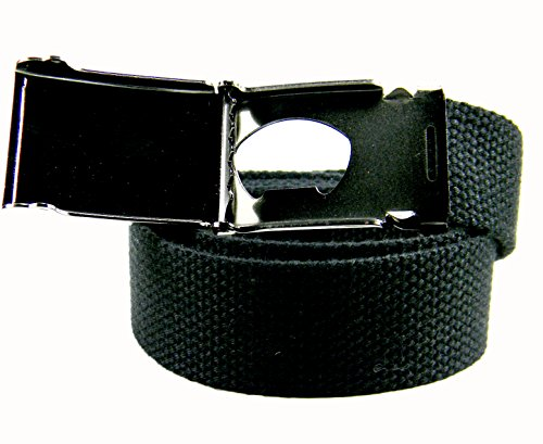Galaxy Peace Flip Top Women's Belt Buckle with Canvas Web Belt XX-Large Navy by Build A Belt (Image #3)
