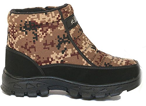 Homme Homme Scratch Chaussures Hiver Bottes Chaussures Chaud Chaud Aisun de de Scratch Aisun Hiver Brun Bottes OwYwq8S