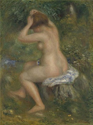 Curtains Costumes Plot ('Pierre-Auguste Renoir-A Bather,1885-1890' Oil Painting, 20x27 Inch / 51x68 Cm ,printed On Polyster Canvas ,this Reproductions Art Decorative Prints On Canvas Is Perfectly Suitalbe For Home Theater Decoration And Home Gallery Art And Gifts)