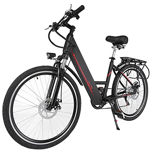 Oanon Folding Electric Bicycle 6-Speed E-Bike with Handlebar