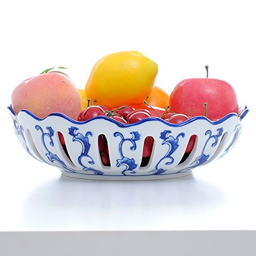 CLG-FLY Hand-painted blue-and-white porcelain bowls classic blue and white fruit bowl creative dessert bowls home furnishings,Top fruit bowl