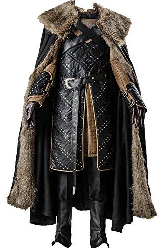 CosplaySky Game of Thrones Season 7 Jon Snow Armor Costume Outfit Medium