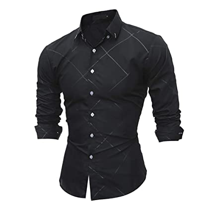 Amazon.com: Camisa de hombre 2018 a la moda, vestido formal ...