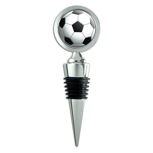 Balón de fútbol balón de fútbol de vino tapón para botella: Amazon ...