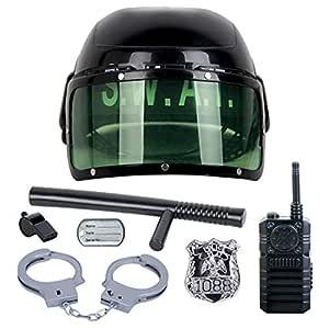 MAJOZ Kit de Accesorios policía niño, 7Pcs Disfraz de Policía para ...