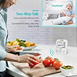 Video Baby Monitor with Camera- HD Night Vision Video Baby Monitor with Two-Way Talk/ 3.5inch HD IPS Screen/Temperature Monitoring (White, 3.5)