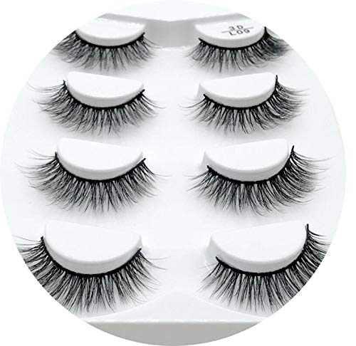 4 Pairs Natural False Eyelashes Fake Lashes Long Makeup 3D Mink Lashes Eyelash Extension Mink Eyelashes For Beauty,L09
