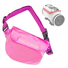 DURAGADGET Exclusive Holiday & Travel Water-Resistant Pouch-Style Case in Pink for the NEW TomTom Bandit Action Camera (Hero, HD, 1080p, Time Lapse, Slow Motion)