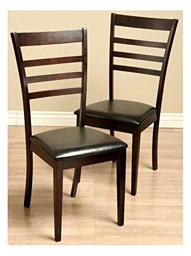 Tiffany Leather Chair - Warehouse of Tiffany Crystal Leather Dining Room Chairs - Set of 2