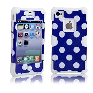 ivencase 3 in 1 plástico & TPU Silicona proteger Funda Carcasa Cuero Case Cover Para Apple iphone 4 4S 4G