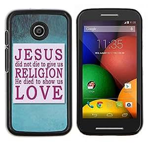 LECELL--Funda protectora / Cubierta / Piel For Motorola Moto E -- Jesús --