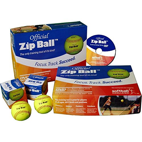 Softball Excellence Zip Ball Training Aid Kit - (12 Balls) w by Softball
