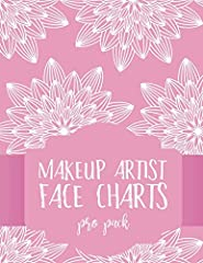Grab this book Makeup Artist Face Charts: Pro Pack for Face Painting and Makeup Artists with makeup charts to feature your pro makeup or face painting designs! Use these layouts to design and customize fabulous looks with colored penci...