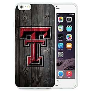 Fashionable And Unique Custom Designed With NCAA Big 12 Conference Big12 Football Texas Tech Red Raiders 3 Protective Cell Phone Hardshell Cover Case For iPhone 6 Plus 5.5 Inch White