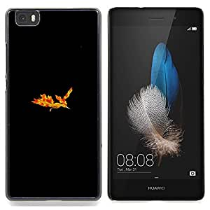 "Qstar Arte & diseño plástico duro Fundas Cover Cubre Hard Case Cover para Huawei Ascend P8 Lite (Not for Normal P8) (Moltres P0kemon"")"