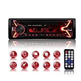 Bluetooth Handsfree Car Stereo, 1 Din Radio Audio, 7 Colors FM/AM / MP3