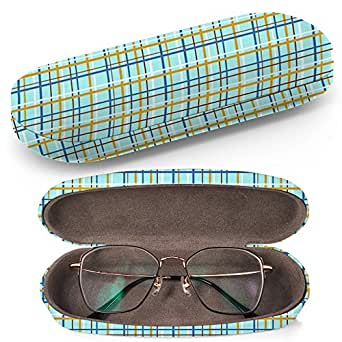 Hard Shell Glasses Protective Case Box Cleaning Cloth Fits Most Eyeglasses And Sunglasses